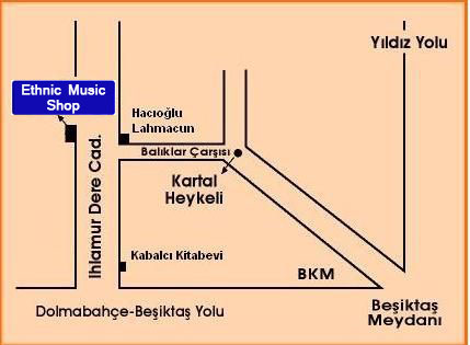 Ethnic Music Shop Map